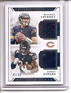 Mitchell Trubisky/Jordan Howard Chicago Bears 2018 Panini National Treasures Dual Jersey Memorabilia Football Card #45/99