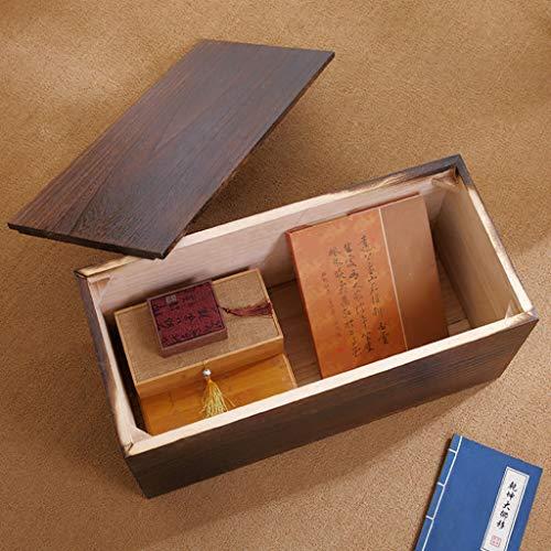 Shoe Storage Bench Wood Storage Shelf Hallway Shoes Rack Cabinet Shoe Bench Seat Storage Organiser for Entryway Living Room Bedroom Non-Slip (Color : Brown Black, Size : 70cm)