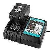 18V Batería de iones de litio 4.0 Ah BL1840 con 3A DC18RC DC18RA DC18RA Cargador de repuesto Reemplace para Makita 18V LXT Portátil Luz DML185 DML801 DML805 Taladro Hammer DHR202Z