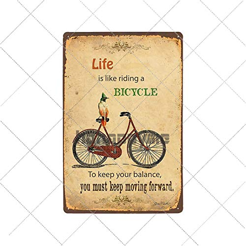 bestmugcupSS Retro Bicycle Metal Tin Signs Riding Bike Vintage Poster Bar Pub Club Room Decoration Wall Plaque Home Decor 2033019