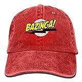 Bazinga Big Bang Theory Camiseta Cowboy Visor Gorra Posterior Ajustable Gorra