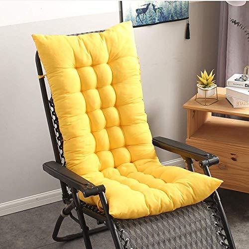 Schaukelstuhlkissen Thicken Lounge Chair Kissen Bankkissen doppelseitiges Sofakissen Matt Mat Fensterkissen Bodenmatte-gelb 48x125cm (19x49inch)