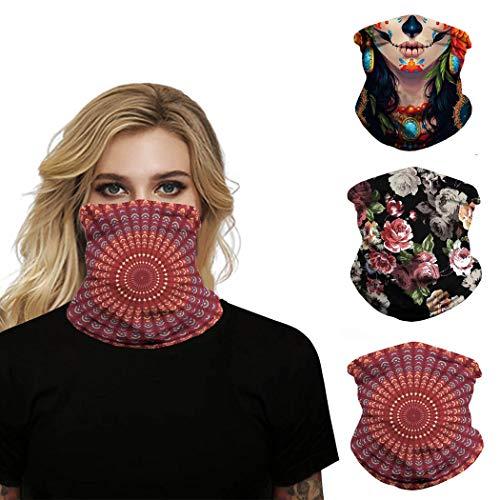 /Élastique Masque d/équitation /Écharpe de sport HAOZI Lot de 2 bandeaux de cou unisexe Bandeau magique Sans couture Respirant Multifonction