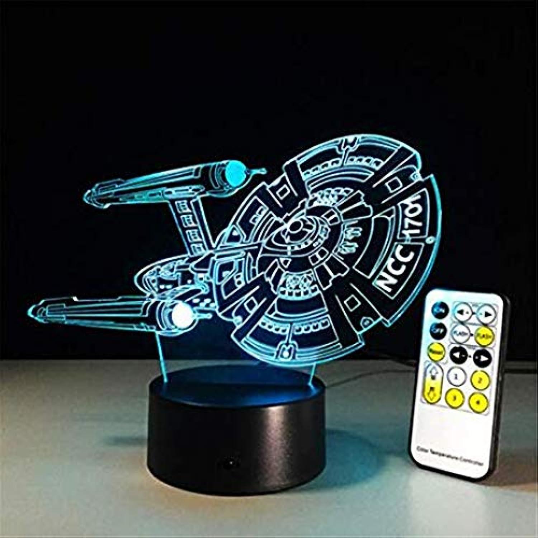 Led Lights Edison Lights 3D Led Nachtlicht Lampe Spaceship Bunte Usb Led Acryl Beleuchtung