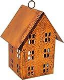 Unbekannt Edelrost Vogelhaus Lichthaus zum Hängen Windlicht Gartendeko