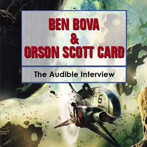 Ben Bova and Orson Scott Card audiobook cover art