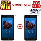 Kite Digital Compatible with Lenovo ZUK Z2 Tempered Glass Screen Protector Slim 9H Hardness 2.5D (Pack of 3)