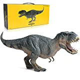 EOIVSH Dinosaur Toy Vastatosaurus Rex with Movable Jaw, Jurassic World Dinosaur Action Figure Vrex Toy Plastic Educational Animal Model Figurine for Collector, Home Decoration, Party Favor (Blue)
