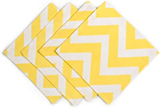 LinenTablecloth Yellow Chevron Napkins 20 Inch