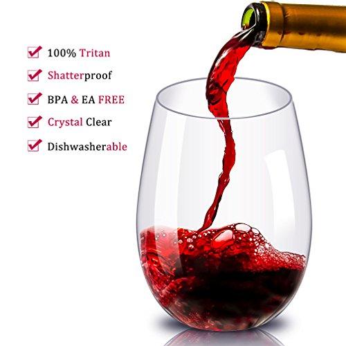 Kuke - Copas vino irrompibles – 100% plástico irrompible