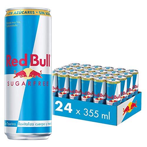 Red Bull Bebida energética, Sin Azúcar Sugarfree - 24 latas de 355 ml. (Total 8520 ml.)