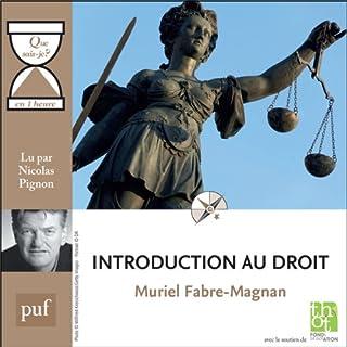Couverture de Introduction au droit en 1 heure
