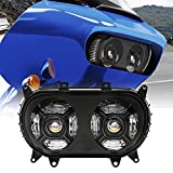 Z-OFFROAD New Version 124W Dual LED Headlight for Harley Davidson Road Glide 2015 2016 2017 2018...