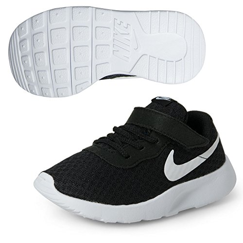 Nike Unisex Baby Tanjun (Td) Sneaker, Schwarz Black White White 011, 18.5 EU