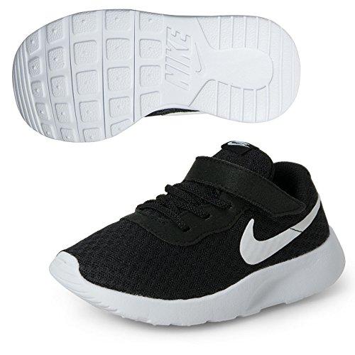 Nike Tanjun (TDV), Scarpe da Ginnastica Basse, Unisex – Bimbi, Nero (Nero/ Bianco), 17 EU