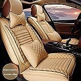 Maidao Fundas de asiento de coche personalizadas para Hyundai ironic 2020 híbrido protector de asiento delantero airbag compatible con fundas de piel sintética impermeable resistente al desgaste A5001