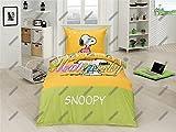 Juego de cama infantil 140 x 200 Snoopy Heart + 70 x 90 algodón