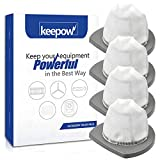 KEEPOW 2033 Vacuum Filter Compatible with Bissell Featherweight Stick Lightweight Bagless Vacuum 2033,20331,20333,20336,20339,2033M (4-Pack)