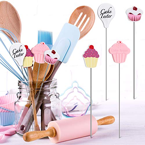 Cake Tester Needles Stainless Steel Reusable Cake Testing Needles Practical Cake Tester Skewer Needles for Kitchen Home Bakery Tools (4)                Ateco Cake Tester, Plastic Handle box of 12                OXO Good Grips Baker's Dusting Wand for Sugar, Flour and Spices
