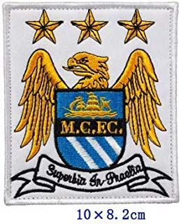 Manchester City Football Soccer Club Team Military Patch Fabric Embroidered Badges Patch Tactical Stickers for Clothes with Hook & Loop