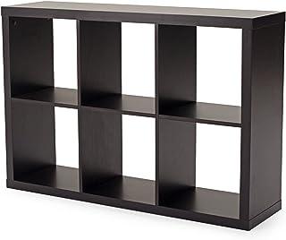 Bibliothèque, Armoire de Rangement carrée, organisateurs de 6 Cubes, bibliothèque en Bois pour Salon, Salle d'étude, Balco...
