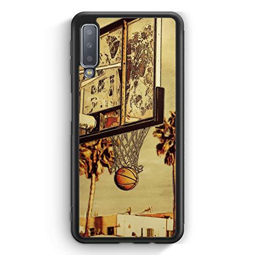 Basketball Cartoon - Silikon Hülle für Samsung Galaxy A7 (2018) Cover - Motiv Design Sport Cool - Handyhülle Schutzhülle Case Schale