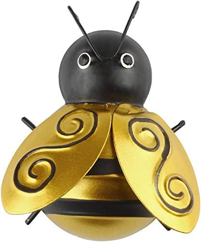 wholesale Larcele wholesale Metal Wall Art Bee for Home Garden Decor outlet sale 1 Piece TYXMF-01 online