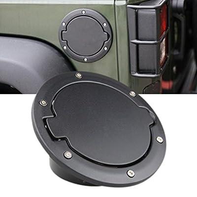 Fuel Filler Door Cover Gas Tank Cap for 2007-2016 Jeep Wrangler JK & Unlimited 4-Door 2-Door