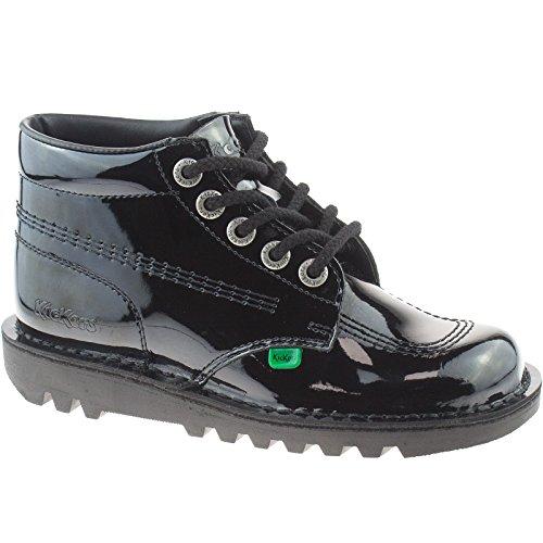 Kickers KF0000120 - zapatos de piel negro, color Negro, talla 44 EU