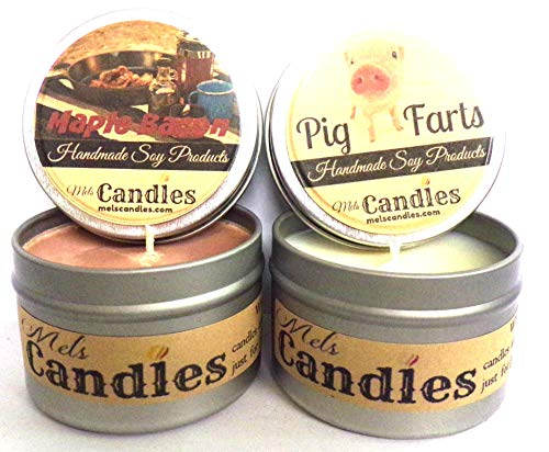 Combo - Pig Farts & Maple Bacon - Set of Two 4oz All Natural Soy Candle Tins