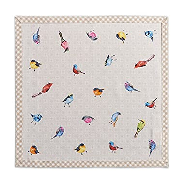 Maison d' Hermine Birdies On Wire 100% Cotton Set of 4 Napkins, 20 - inch by 20 - inch.