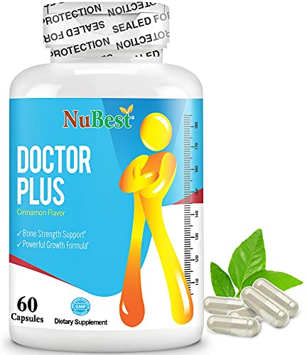Doctor Plus - Powerful Growth Boost - Promotes Strong and Healthy Bones - Immunity Support - for Children (10+) and Teens - 60 Capsules