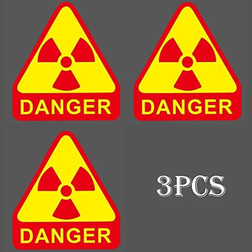 3pcs Danger Triangle Warning Sign Sticker Logo Waterproof Suitcase Laptop Guitar Luggage Skateboard Toy Lovely Stickers