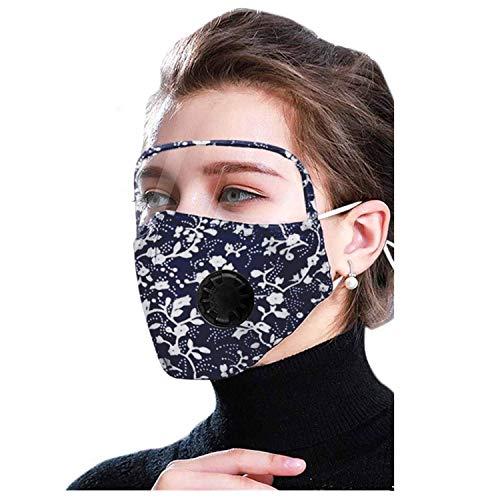 Goggle Mund mit Ventil, modisch, florales Mouth, waschbar, wiederverwendbar, winddicht, Augenschutz, Mund und für Sport