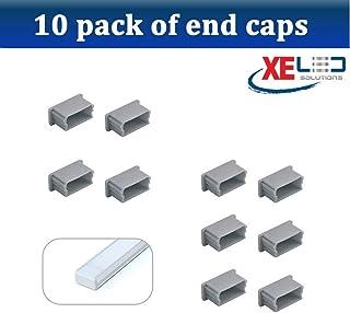 10 x Pack U Line Mini Aluminium LED Profil Los tapones de los extremos by XE LED Solutions