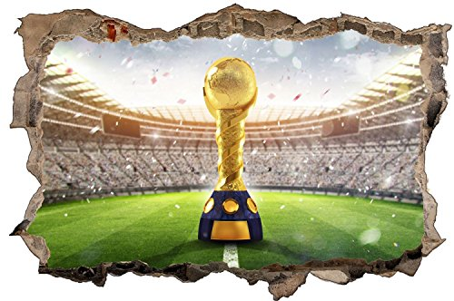 Pokal Stadion Fussball Wandtattoo Wandsticker Wandaufkleber D1343 Größe 40 cm x 60 cm