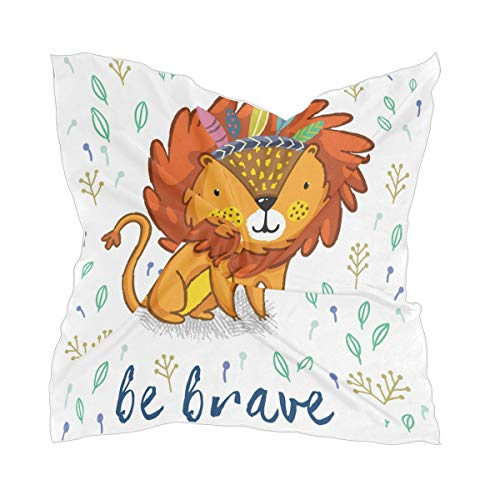 XiangHeFu zakdoek schattige leeuw schilderij chiffon hoofddeksel zijden sjaal vrouwen dun