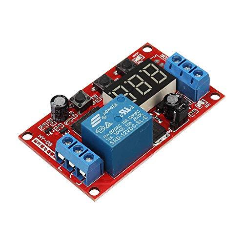 Z-LIANG For la exhibición Auduino Smart Home 12V Módulo de relé Digital Junta de retardo de Alta y Baja del Disparador Ajustable de múltiples Funciones de Ciclo del módulo