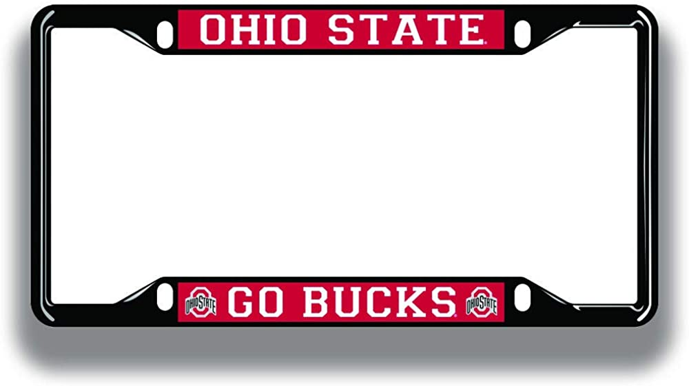 Elite Fan Shop NCAA License Plate Frame Black