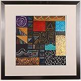 リー・フィリップス 「ニューオプションズ・1」 現代アート 絵画 抽象画 モダンアート モノタイプ 版画 額付き