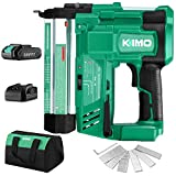 KIMO 20V 18 Gauge Cordless Brad Nailer/Stapler Kit, 2 in 1 Cordless...