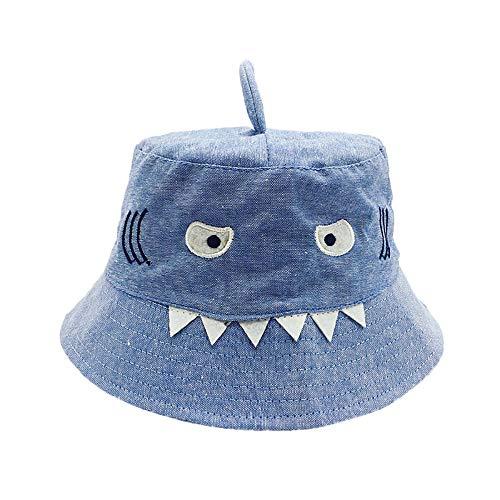Chapeaux de Soleil Bob Hat Protection Bonnet Chapeau Bébé Casquette de Baseball en Coton pour Bébé Filles Garçon 1-3 Ans (Noir)