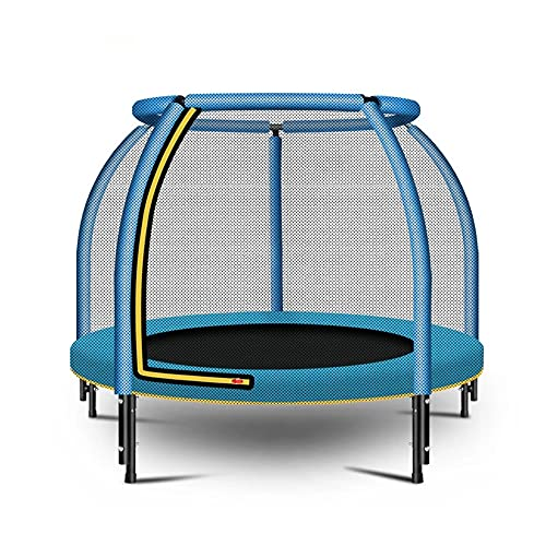 El trampolín para niños con la caja de seguridad de la red de seguridad, el mini puente de rebote redondo, la cremallera incorporada, el gran regalo para el ejercicio de juego interior y al aire libre