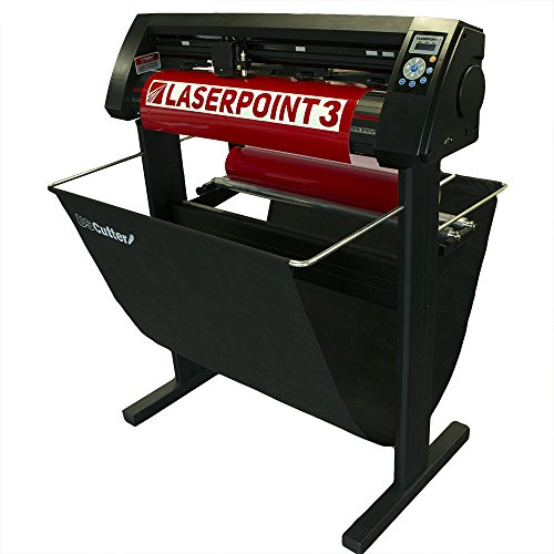 New 28' USCutter LaserPoint 3 (LP3) Vinyl Cutter with ARMS Contour Cutting, Stand and Basket