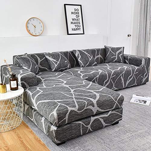 WXQY Funda de sofá elástica de algodón Funda de sofá elástica para Sala de Estar Funda de sofá a Prueba de Polvo Completa Funda de Chaise Longue sillón A9 de 3 plazas