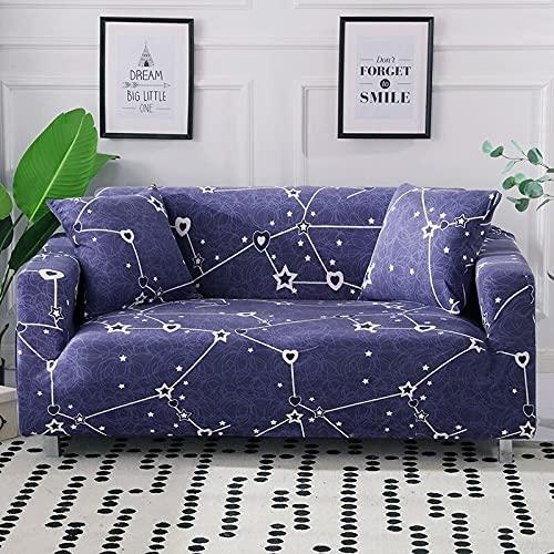 Funda elástica para sofá de salón, funda de sofá en forma de L, antideslizante, para sofá esquinero, tamaño A5, 3 plazas