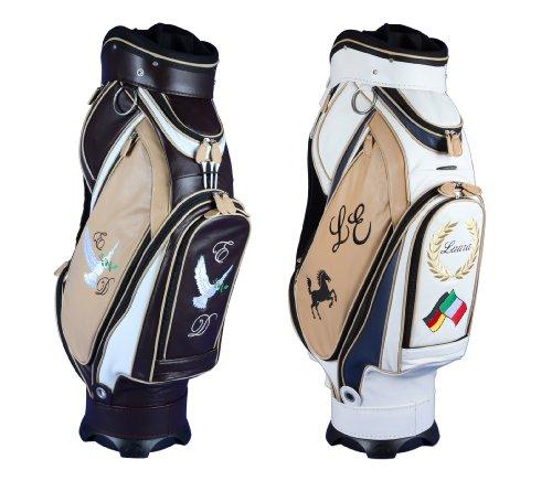 Puro lusso! Sacca da golf di pelle personalizzata di Kellermann Golf 4 aree personalizzate 2 colori