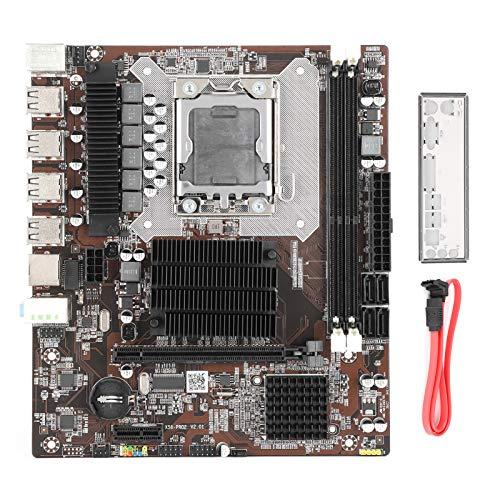 Placa Base de Placa Base de computadora, Placa Base de Control Industrial Mini Placa Base de Estado sólido Compatible con Memoria ECC Accesorios de computadora X58 Pro2