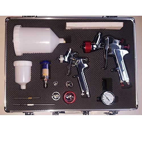 petit un compact Boîte de pistolet à peinture HVLP 4 buses 0,81,0 1,4 1,8 mm – Couleur étoile –