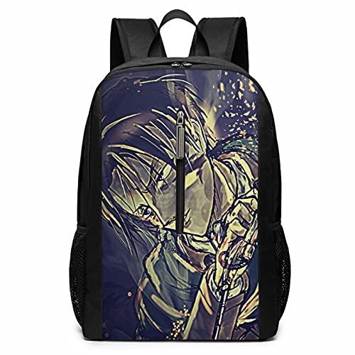 Anime Attack on Titan Mochila para portátil de viaje, escuela, ciclismo, ocio, camping, bolsa grande, para niños, niñas, hombres y mujeres al aire libre de 17 pulgadas